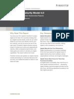 Forrester s Digital Maturity Model 4.0