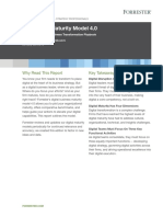 Forrester s Digital Maturity Model 4.0