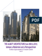 The Almaty architecture from 2005 to 2015