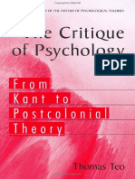 Teo, Thomas - The Critique of Psychology - From Kant to Postcolonial Theory