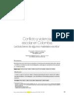 Conflicto y Violencia Escolar en Colombia