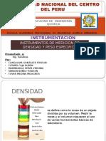 Exposicion de Instrumentos de Medicion de Densidad