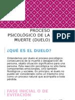 Proceso Psicológico de La Muerte (Duelo)