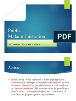 Maladministration Edited Latest 2015