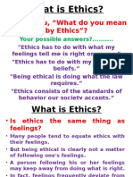 What is Ethics Lecture