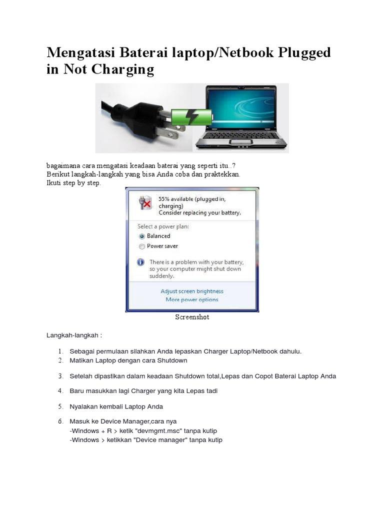 Mengatasi Baterai Laptop Error