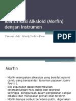 Identifikasi Morfin