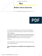 Why Did Britain Vote to Leave the EU_ - Vox
