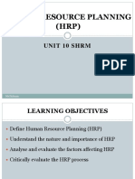 Unit 10 - Human resource planning