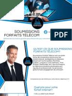 Soumissions Forfaits Télécom | Trouvez votre fournisseur Internet, téléphone, télévision
