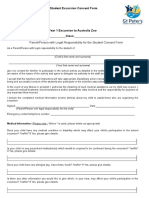 student excursion consent form