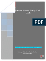 Draft National Health Policy 2015