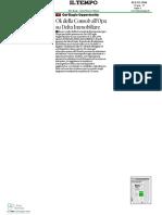 2 Luglio Il Tempo - Ok della Consob all'Opa su Delta Immobiliare