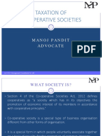 Taxation of Co-operative Societies