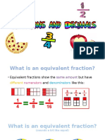 fractions and decimals equivalent fractions