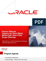 Implement Oracle Taleo Cloud Fixed Scope - V3
