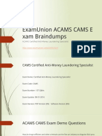 ExamUnion ACAMS CAMS Real Exam Questions