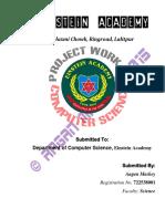 Computer Science - REPORT