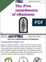 5 Commandments of eBusiness