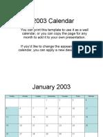 2003 Calendar 2