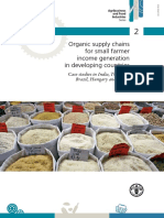 Organic Supply Chains for Small Farmer Income Generation in Developing Countries