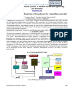 Fault Detection and Protection of Transformer by Using Microcontroller