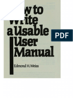How to Write a Usable User Manual