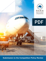 Board of Airline Representatives of Australia - Competition Policy Review Issues Paper