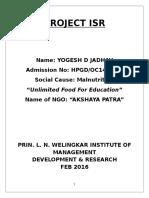 Yogesh Jadhav Hpgdoc140094 Akshaya Patra