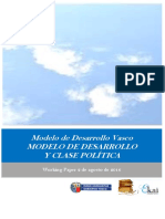 Modelo de Desarrollo Vasco. MODELO DE DESARROLLO Y CLASE POLITICA
