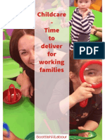 Childcare Provision-Time to Deliver for Working Families