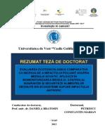 Petrescu Marian - EVALUAREA ECOTOXICOLOGICĂ COMPARATIVĂ  CU MICROALGE A IMPACTULUI POLUANT ASUPRA  MEDIULUI ACVATIC