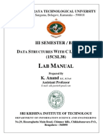 Data Structures with C - 15CSL38 VTU manual