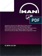 Operating Instructions for MAN Marine Diesel Engines - D2876 LE 301