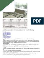Jual Conveyor Belt Metal Detectors For Food Industry.docx
