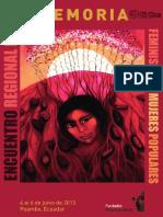 Feminismos y Mujeres Populares Memoria Encuentro Regional Rosa Luxemburg