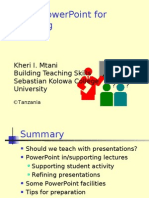 Power Point for Teaching
