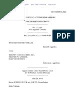 Western Surety Company v. Mooney Construction, Inc., 11th Cir. (2014)