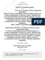 John C. Pruett v. Choctaw County, Ala. Choctaw County Commission, Dandy W. Brown, Individually and in His Official Capacity as County Commissioner of Choctaw County, Alabama Otis Crowell, Individually and in His Official Capacity as County Commissioner of Choctaw County, Alabama Joe Gibson, Individually and in His Official Capacity as County Commissioner of Choctaw County, Alabama John C. Pruett v. Choctaw County, Alabama Choctaw County Commission Dandy W. Brown, Individually and in His Official Capacity as County Commissioner of Choctaw County, Alabama Otis Crowell, Individually and in His Official Capacity as County Commissioner of Choctaw County, Alabama Joe Gibson, Individually and in His Official Capacity as County Commissioner of Choctaw County, Alabama, 9 F.3d 96, 11th Cir. (1993)