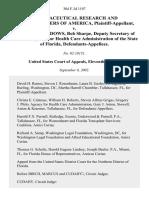 Pharmaceutical v. Rhonda M. Meadows, 304 F.3d 1197, 11th Cir. (2002)