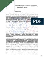 Carta a Las Autoridades y Comunidad Farmacéutica
