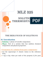 MLZ 325 Solution Thermodynamics Chapter 9 1 Raoults Henrys Law
