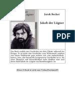 Becker, Jurek - Jakob Der Lugner