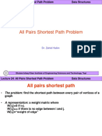 DS Lect 24 All Pairs Shortest Path Problem