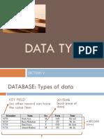 Data Types SV