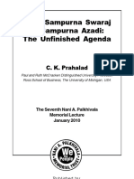 From Sampurna Swaraj to Sampurna Azadi-The Unfinished Agenda by Prof. C.K. Prahalad