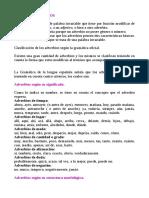 Los adverbios del español