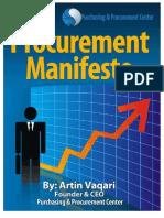 Procurement Manifesto