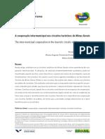 A Cooperação Intermunicipal Nos Circuitos Turísticos de Minas Gerais