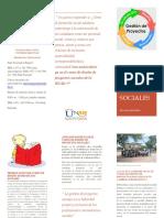 Folleto de Diseño de Proyectos Sociales